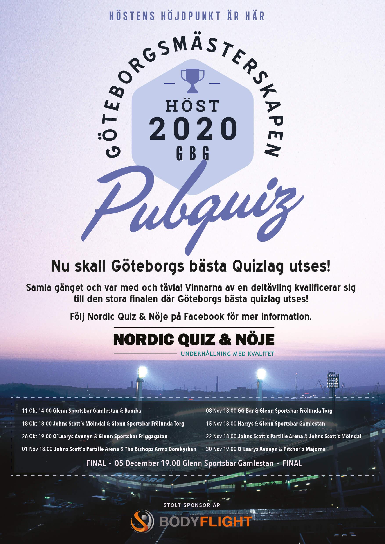 Göteborgsmästerskapen –Pubquiz 2020